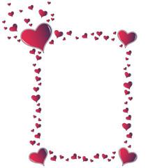 Valentine card. Ideal frame for valentines day portrait