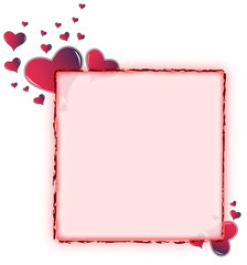 Valentine card. Ideal frame for valentines day portrait