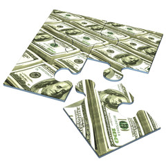 American Currency Concept Puzzle