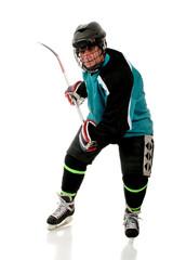 Senior Hockey Player