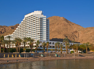 Resort hotel on beach front