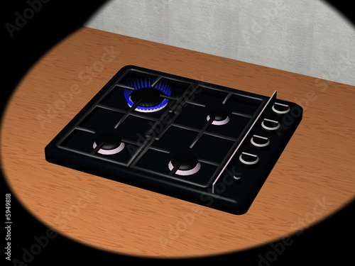 Piano cottura particolare della cucina rendering 3d imagens e fotos de stock royalty free - Piano della cucina ...