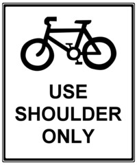 Cycle road sign