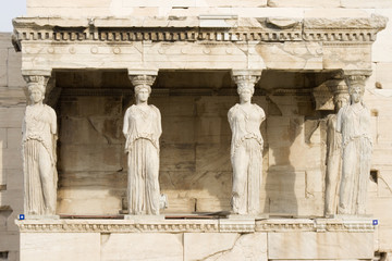 Porch of the Maidens in Athens, Greece.