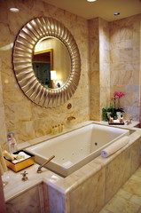 tub at angle