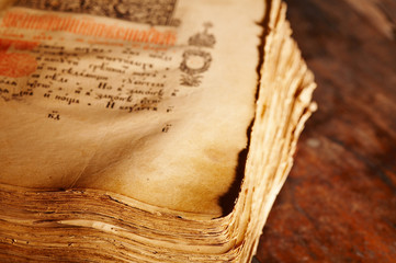 Ancient book, shallow depth of field