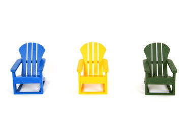 Multicolored Wooden Chairs (Muskoka Chairs)