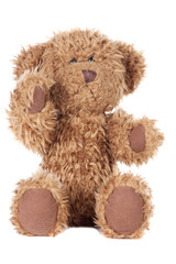 Teddy bear a over white background