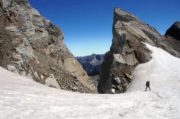 seul sur le glacier