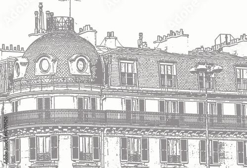Croquis D Un Immeuble Haussmannien Photo Libre De Droits Sur La