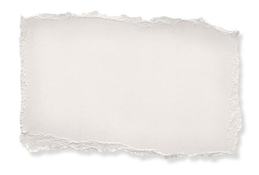 Torn off-white paper.  Clipping path included.