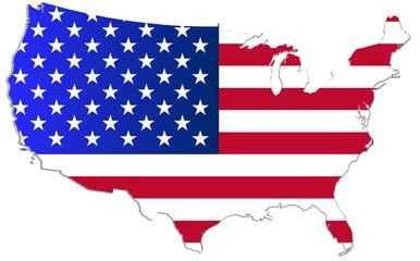 américa, bandeira e mapa