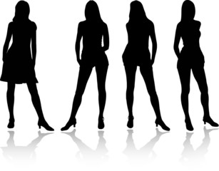 Girls set - 4A. Silhouette