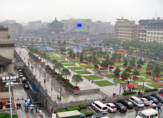 Papiers peints Xian Grande place, ville de Xian, Chine