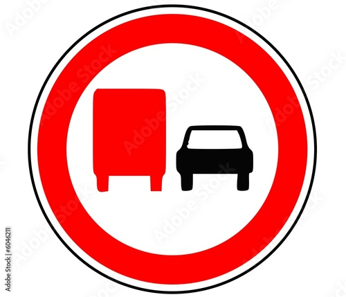 Panneau de signalisation interdiction de depassement - Panneau signalisation interdiction ...