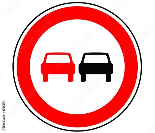 panneau de signalisation interdiction de depassement b3 photo libre de droits sur la. Black Bedroom Furniture Sets. Home Design Ideas