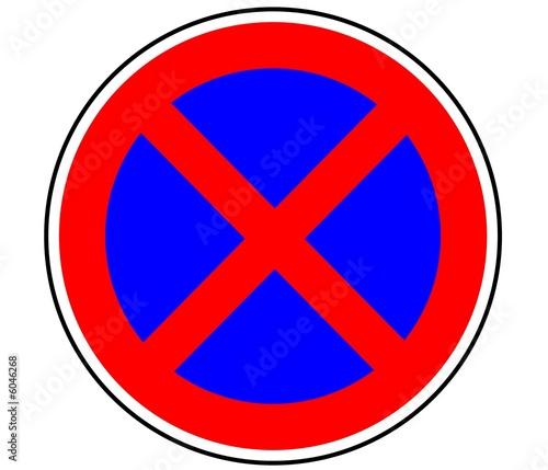 panneau de signalisation arret interdit b6d photo libre de droits sur la banque d 39 images. Black Bedroom Furniture Sets. Home Design Ideas
