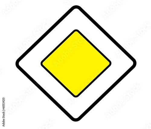 panneau de signalisation route prioritaire ab6 photo libre de droits sur la banque d. Black Bedroom Furniture Sets. Home Design Ideas