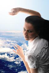 girl sky