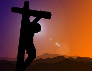Christ on Cross Illustration