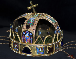 Hungarian imperial crown of st stephen