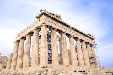 Parthenon at the Acropolis in Athens, Greece.