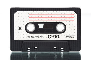 Old-fashioned cheap audio compact cassette