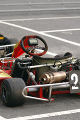 Wall Mural - kart in the pits ready for racing