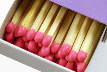 box  of red-headed, non-safety matches