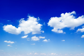 beautiful white clouds on background blue sky