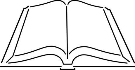 Buch offen