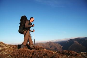Boy in mountain
