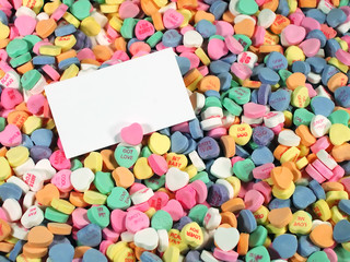 Candy Hearts-Blank Sign