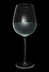 Glass on Black - Highly detailed illustration