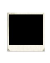 blank aged polaroid