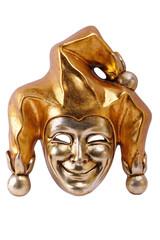 Golden Venetian mask  isolated on white