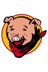 pig cowboy