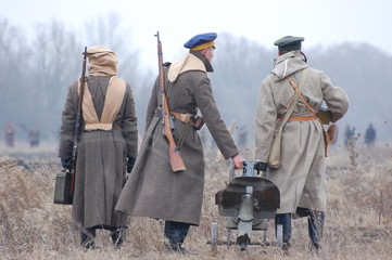 reenacting Civil War 1918 in Russia