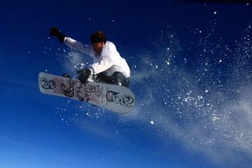 Foto auf AluDibond Wintersport Envole vers le ciel