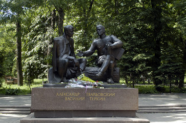 The monument of the russian poet Alexander Tvardovsky