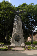 Monument to heroes of 1812 in Smolensk. Russia.
