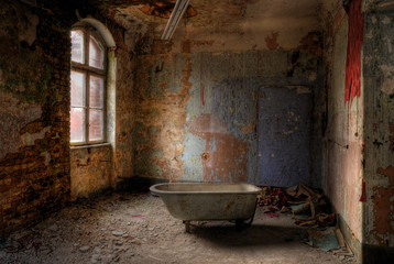 Photo sur Aluminium Ruine take a bath