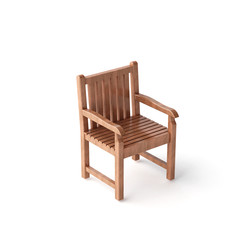isolated wood chair