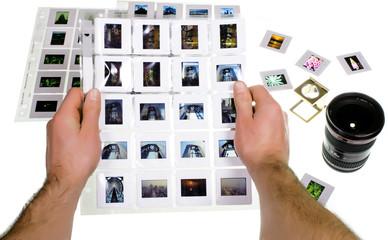 selezione diapositive fotografiche