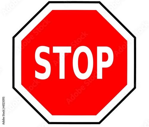 Panneau de signalisation stop ab4 photo libre de droits sur l - Prix d un panneau stop ...