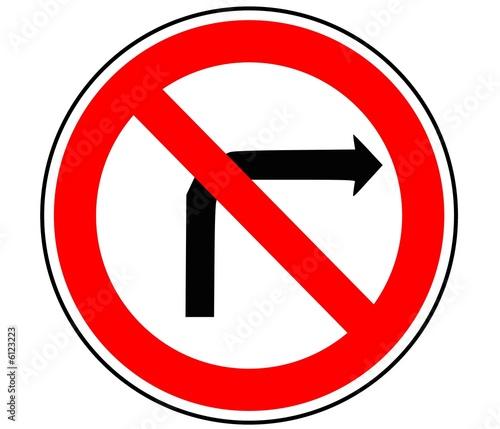 Panneau de signalisation interdiction de tourner b2b - Panneau signalisation interdiction ...