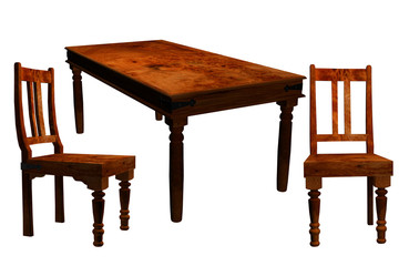 Antique table and chairs for designers