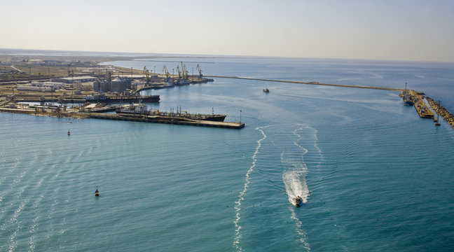 Caspian sea panorama