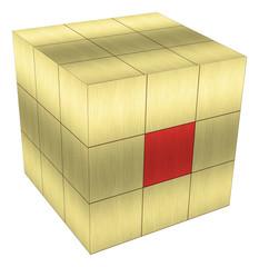 cube gold metal