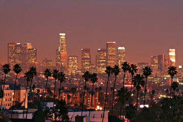 Photo sur Aluminium Los Angeles Los Angeles Skyline